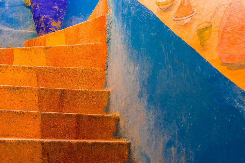 Orange Stairs, Morocco