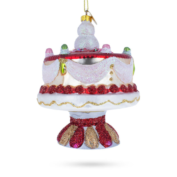 Buy Online Gift Shop Snowman Cake Decoration Glass Christmas Ornament