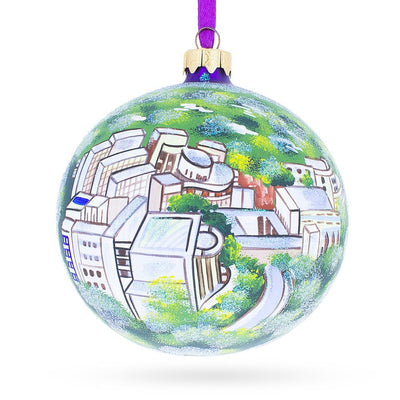 Los Angeles, California Glass Ball Christmas Ornament 4 Inches by BestPysanky