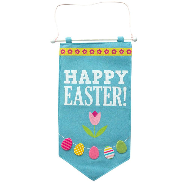Fabric Happy Easter Banner 20.75 Inches Long