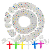 Set of 25 Plastic Religious Cross Filled Eggs
