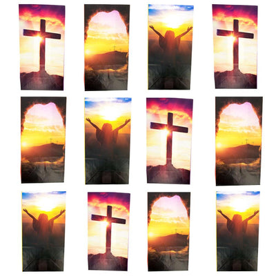 Set of 12 Religious Easter Gift Bags 9.75 Inches