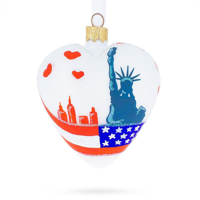 I Love New York Heart Christmas Ornament by BestPysanky
