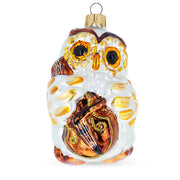 Owl With Cello Mouth Blown Glass Christmas Ornament 4.5 Inches by BestPysanky