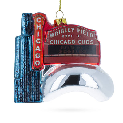 Chicago Attractions Glass Christmas Ornament by BestPysanky
