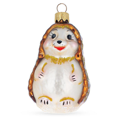 Hedgehog Mouth Blown Ornament 3.7 Inches by BestPysanky