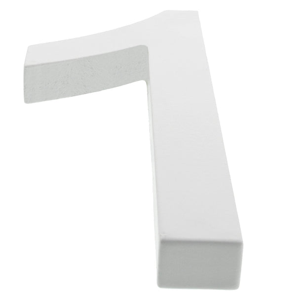 Arial Font White Painted MDF Wood Number 1 (One) 6 Inches by BestPysanky