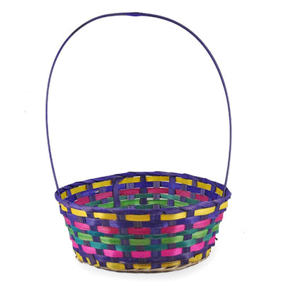 Woven Colorful Round Easter Basket 15.25 Inches by BestPysanky