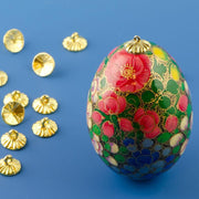 Buy Online Gift Shop 24 Gold Tone Ornament Caps - Egg Top Findings