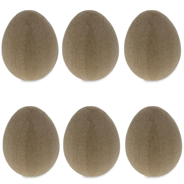 Set of 6 Lightway Paper Mache Eggs 2.5 Inches