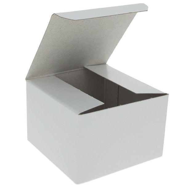 Glossy White Paper Gift Box 3 x 3 x 2 Inches