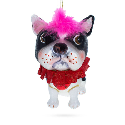 French Bulldog Glass Christmas Ornament by BestPysanky