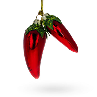 Cayenne Pepper Glass Christmas Ornament by BestPysanky