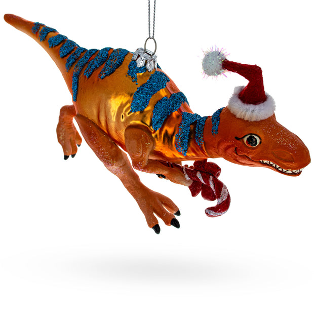 T-Rex Dinosaur Glass Christmas Ornament by BestPysanky