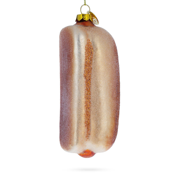 Hot Dog Blown Glass Christmas Ornament