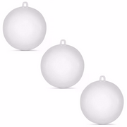 Set of 3 Fillable Clear Plastic Ball Christmas Ornaments 3.15 Inches