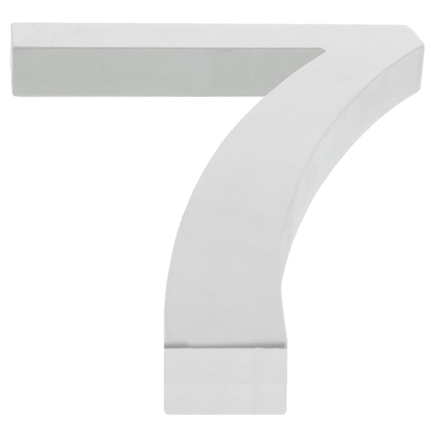 Arial Font White Painted MDF Wood Number 7 (Seven) 6 Inches by BestPysanky