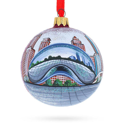 The Bean, Chicago, Illinois Glass Ball Christmas Ornament by BestPysanky