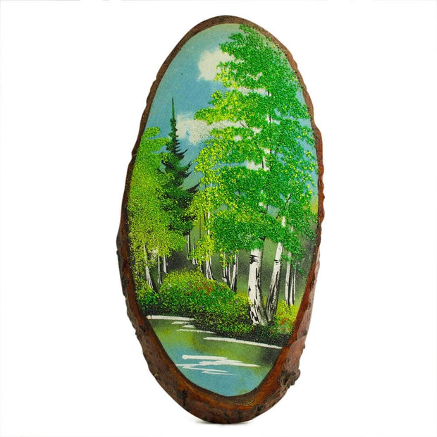 Spring Forest Woodcut Painting Wall Art Plaque 15 Inches by BestPysanky