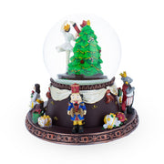 Nutcracker Dancing with Clara Animated Musical Snow Globe