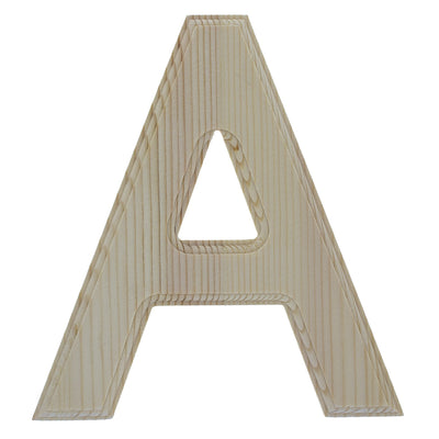 Unfinished Wooden Arial Font Letter A (6.25 Inches) by BestPysanky