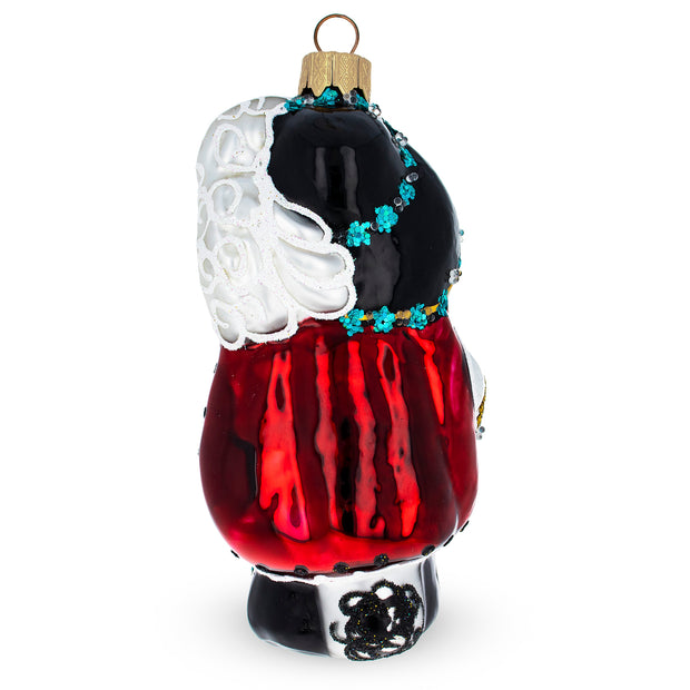 Puss in the Boots Mouth Blown Glass Christmas Ornament 5.1 Inches