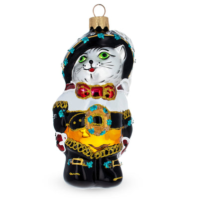 Puss in the Boots Mouth Blown Glass Christmas Ornament 5.1 Inches by BestPysanky