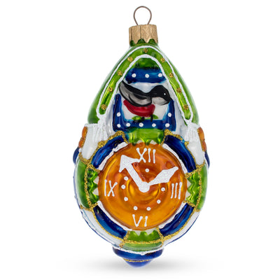 Cuckoo Clock Mouth Blown Glass Christmas Ornament 5.1 Inches by BestPysanky