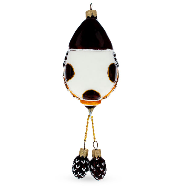 German Cuckoo Clock Mouth Blown Christmas Ornament 8.4 Inches