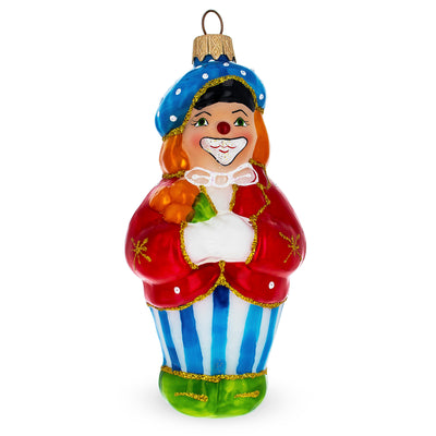 Clown in Red Jacket Glass Christmas Ornament by BestPysanky