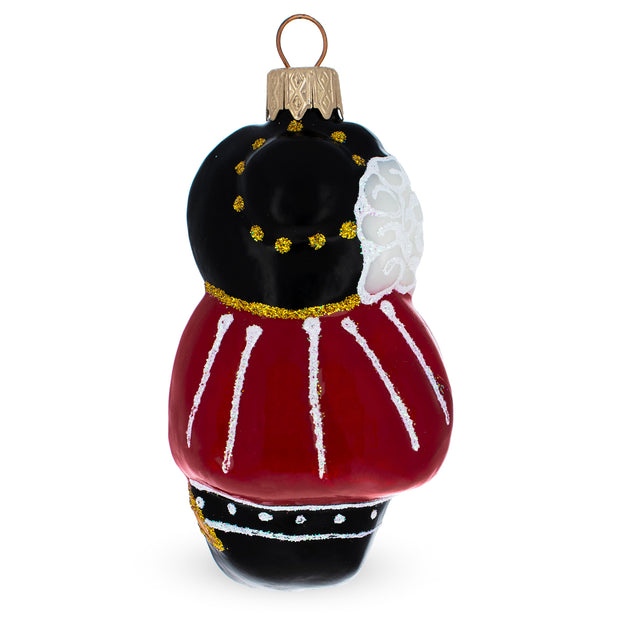 Musketeer Mouse Mouth Blown Glass Christmas Ornament 3.9 Inches
