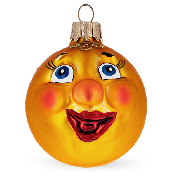 Kolobok Mouth Blown Glass Christmas Ornament 3 Inches by BestPysanky