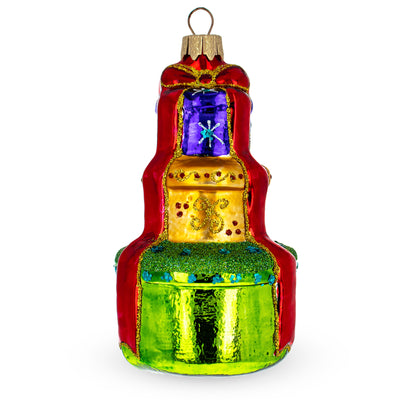 Stacked Gift Boxes Glass Christmas Ornament by BestPysanky