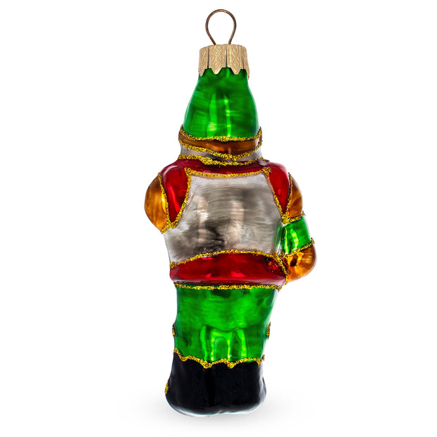 Knight with Sword Mouth Blown Glass Christmas Ornament 4.6 Inches