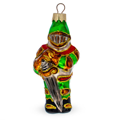 Knight with Sword Mouth Blown Glass Christmas Ornament 4.6 Inches by BestPysanky