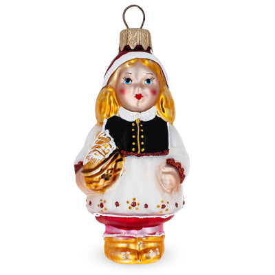 Red Riding Hood Glass Christmas Ornament by BestPysanky