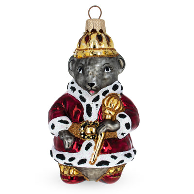 Mouse King Mouth Blown Glass Christmas Ornament 4.45 Inches by BestPysanky