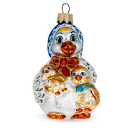 Mother Goose Mouth Blown Glass Christmas Ornament 4.1 Inches by BestPysanky