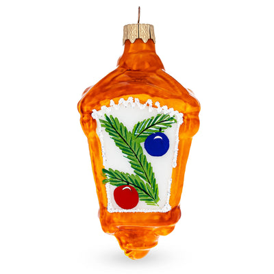Glittered Lantern with Candles Glass Christmas Ornament by BestPysanky