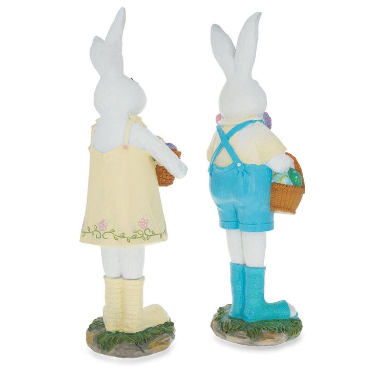 Buy Online Gift Shop Two Bunnies with Easter Eggs Figurines 12 Inches