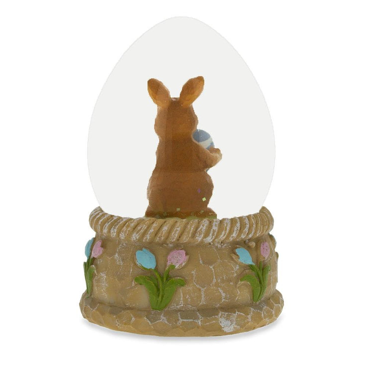 Bunny with Easter Egg Water Snow Globe