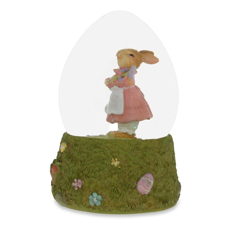 Buy Online Gift Shop Mrs. Bunny with the Purple Iris Flower Water Snow Globe
