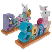 Buy Online Gift Shop Set of 2 Easter and Spring Signs with Mr. & Mrs. Bunny 8 Inches