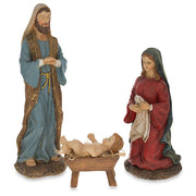 Hand Painted Nativity Scene Set of 3 Figurines 10 Inches by BestPysanky