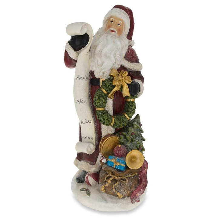 Santa Reading the Christmas Gifts List Figurine 11.5 Inches by BestPysanky