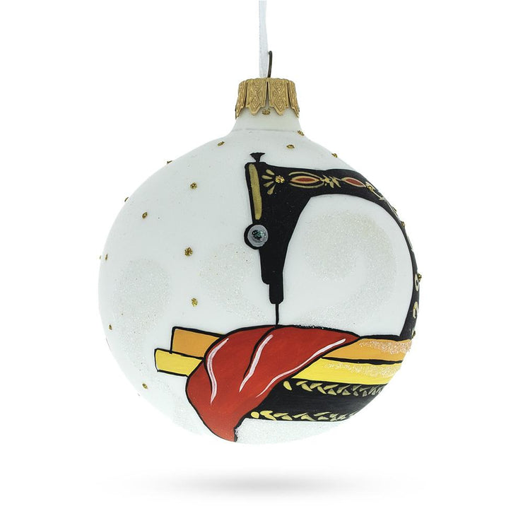 Buy Online Gift Shop I love Sewing Glass Christmas Ornament 3.25 Inches