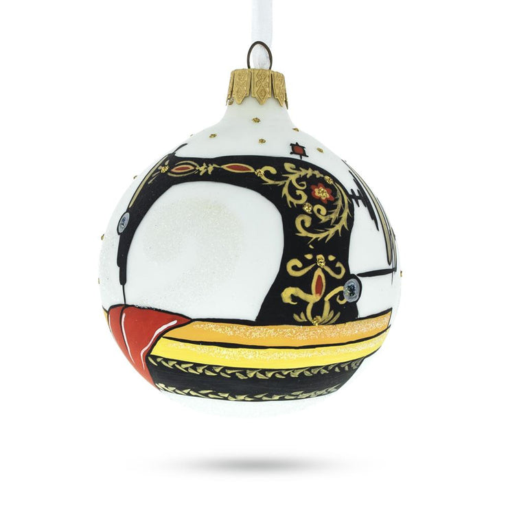 I love Sewing Glass Christmas Ornament 3.25 Inches by BestPysanky