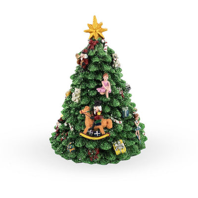 Decorated Christmas Tree Spinning Musical Figurine by BestPysanky