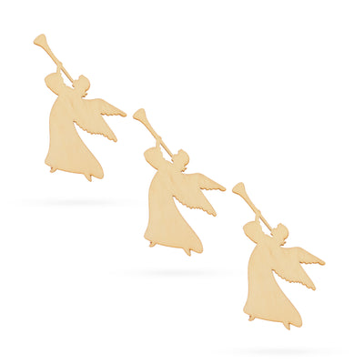 3 Angels Unfinished Wooden Shapes Craft Cutouts DIY Unpainted 3D Plaques 4 Inches by BestPysanky