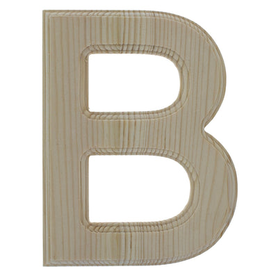 Unfinished Wooden Arial Font Letter B 6.25 Inches by BestPysanky